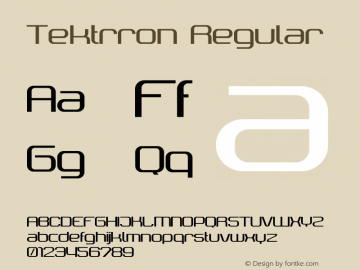 Tektrron Regular Version 001.000 Font Sample
