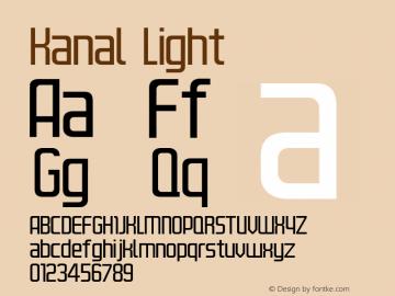 Kanal Light Version 001.000 Font Sample