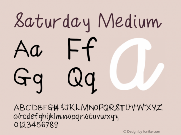 Saturday Medium Version 001.000图片样张