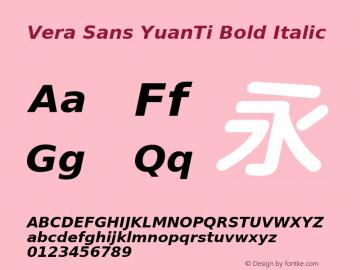 Vera Sans YuanTi Bold Italic 2.0图片样张