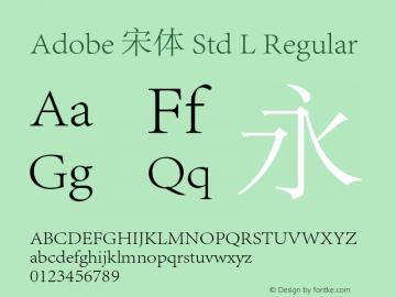 Adobe 宋体 Std L Regular Version 1.001;PS 1;Core 1.0.36;makeotf.lib1.5.4750图片样张