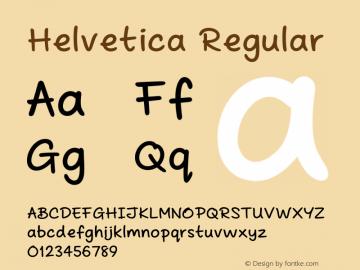 Helvetica Regular Version 0.00 March 19, 2014 Font Sample