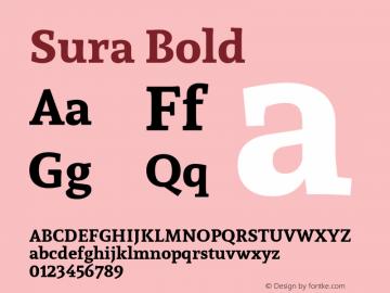 Sura Bold Version 1.002;PS 001.002;hotconv 1.0.70;makeotf.lib2.5.58329 DEVELOPMENT; ttfautohint (v1.00) -l 8 -r 50 -G 200 -x 14 -D latn -f none -w G图片样张