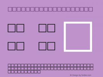 MD_Style_05 Regular Glyph Systems 20-jun-95 Font Sample