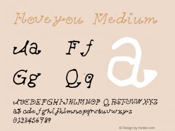 iloveyou medium version 001.000 - 字体大全 - 字客图片