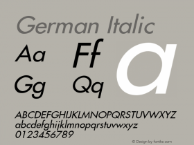 German Italic Version 1.01图片样张