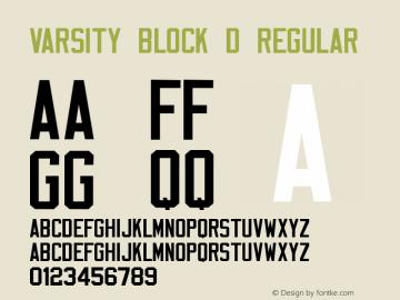Varsity Block D Font,VarsityBlockD Font|Varsity Block D Macromedia
