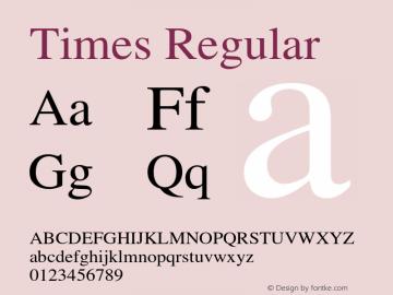 Times Regular OTF 1.0;PS 003.000;Core 1.0.22 Font Sample