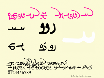 Khusro Regular Macromedia Fontographer 4.1 8/23/00图片样张