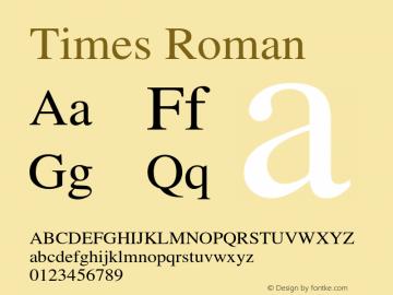 Times Roman 001.007 Font Sample