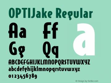 OPTIJake Regular Version 001.000 Font Sample