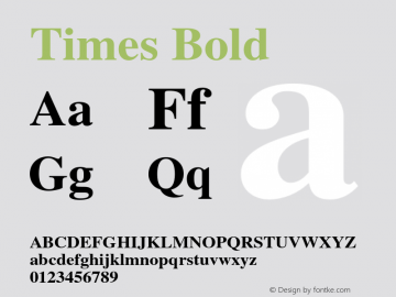 Times Bold 001.007 Font Sample