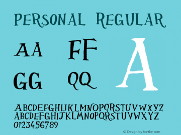 Personal Regular 001.000 Font Sample