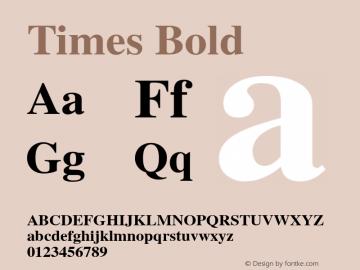 Times Bold Version 1.00 Font Sample