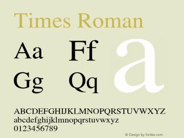 Times Roman OTF 1.0;PS 003.000;Core 1.0.22 Font Sample