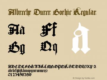 Albrecht Durer Gothic Regular Macromedia Fontographer 4.1.4 4/27/04图片样张