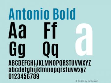 Antonio Bold Version 1 ; ttfautohint (v0.94.20-1c74) -l 8 -r 50 -G 200 -x 0 -w