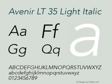 avenir lt w01 35 light