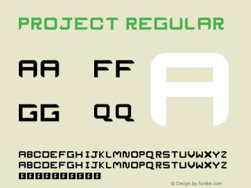 ProJecT Regular Version 1.0 Font Sample