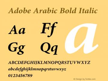 Adobe Arabic Font,Adobe Arabic Bold Italic Font,AdobeArabic