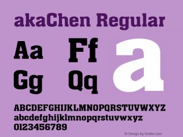 akaChen Regular Version 1.00 2005 initial release图片样张