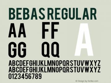 Bebas Regular Bebas versoin1.0 Font Sample