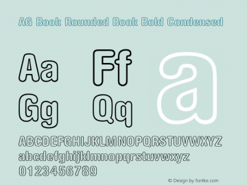 AG Book Rounded Book Bold Condensed Version 001.000 Font Sample
