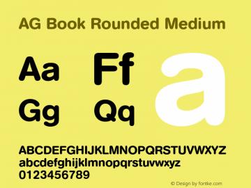 AG Book Rounded Medium 001.000 Font Sample