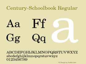 Century-Schoolbook Regular Converted from U:\HOME\PEARCE\AT\TTFONTS\ST000015.TF1 by ALLTYPE Font Sample