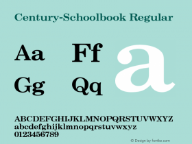 Century-Schoolbook Regular Converted from U:\HOME\PEARCE\AT\TTFONTS\ST000013.TF1 by ALLTYPE Font Sample