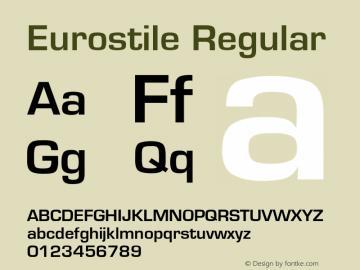 Eurostile Regular Converted from U:\HOME\PEARCE\AT\TTFONTS\ST000022.TF1 by ALLTYPE Font Sample