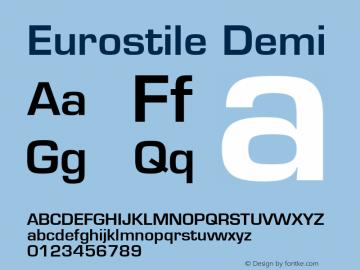 Eurostile Demi 001.001 Font Sample