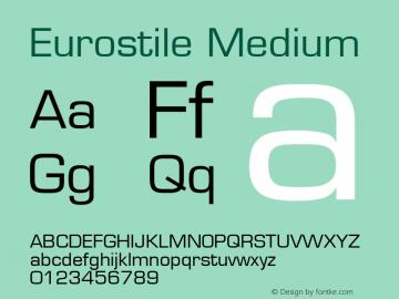 Eurostile Medium 001.001 Font Sample