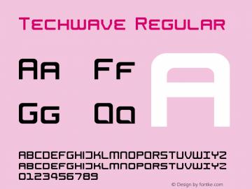 Techwave Regular Version 1.0图片样张