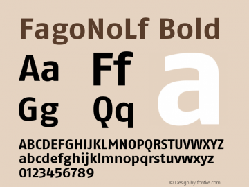 FagoNoLf Bold Version 001.000 Font Sample