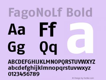 FagoNoLf Bold Version 1.00 Font Sample