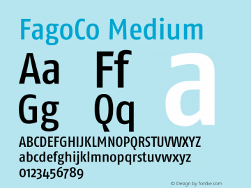 FagoCo Medium 001.000 Font Sample