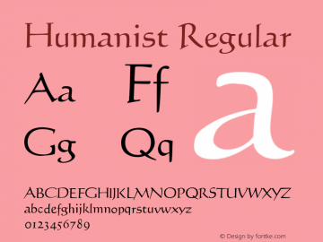 Humanist Regular 001.000图片样张