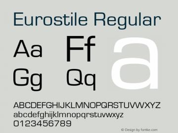 Eurostile Regular Version 1.10 Font Sample