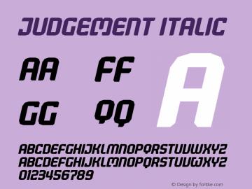 Judgement Italic Version 1.00图片样张