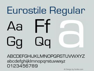 Eurostile Regular Version 1.51 Font Sample
