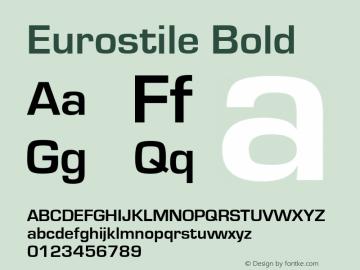 Eurostile Bold Version 1.51 Font Sample