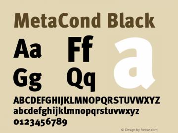 MetaCond Black Version 001.000 Font Sample