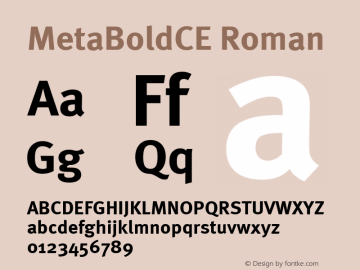 MetaBoldCE Roman Version 001.000 Font Sample