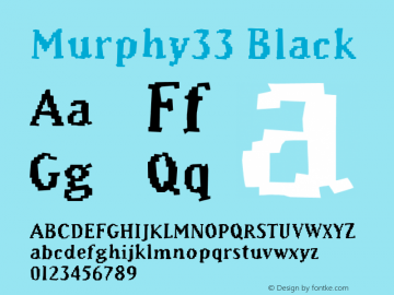Murphy33 Black Version 001.000 Font Sample