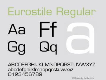 Eurostile Regular 001.001 Font Sample