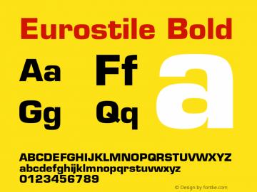 Eurostile Bold 001.001 Font Sample