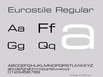 Eurostile Regular OTF 1.000;PS 001.003;Core 1.0.29 Font Sample