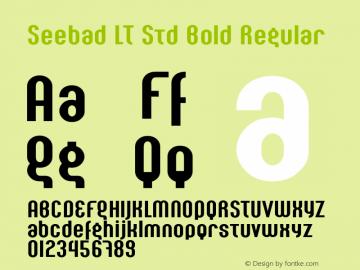 Seebad LT Std Bold Regular Version 2.00;2006图片样张