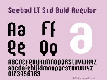 Seebad LT Std Bold Regular Version 1.000;PS 001.000;Core 1.0.38图片样张